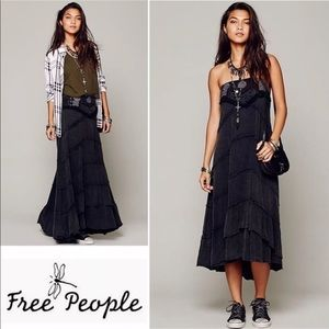 Free People Belly Dancer Convertible Maxi Skirt S